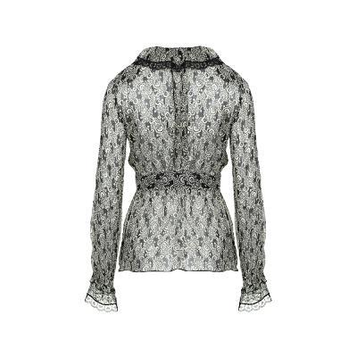 lace detail slim line blouse